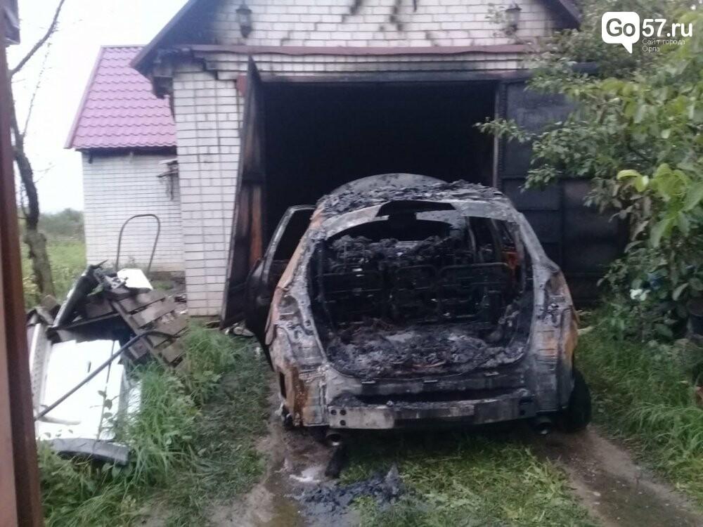 В Орловской области за ночь сгорели две машины, - ФОТО, фото-2
